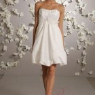 Robe cocktail mariage blanche