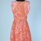Robe rose orange