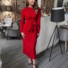 Robe rouge manche