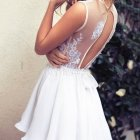 Robe dentelle blanche patineuse